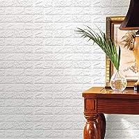 Wallpaper Mart – 3D Embossed Washable PE Foam DIY Self Adhesive Brick Wall Sticker for Bedrooms, Living Room, Kids Room…