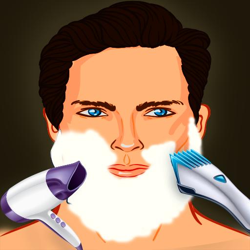 betrunkenen Barbier rasieren Haar Beauty-Salon: der Bart geschnitten Entfernung gefährlicher Verjüngungskur - Gratis-Edition -