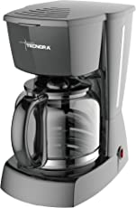 Tecnora Caffemio TCM 206 1.8 Litre, 800-950 W, Drip Coffee Maker with 12-Cup Capacity, in Black.