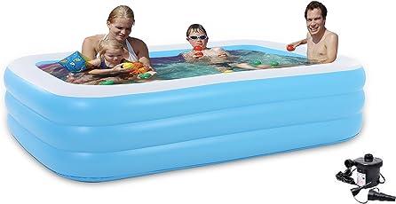 Cho Cho Inflatable Swimming Pool for Kids/Adults (Spa) Jumbo Bath Tub 6.5 Feet (Blue)