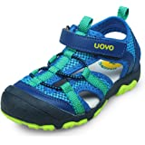 UOVO Boys Sandals Kids Trekking Hiking Sandals Closed Toe Athletic Summer Shoes for Beach Size 6 Toddler to 2 Little Kids
