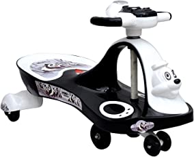 Sita Ram Retails Black and White Panda Magic Car Ride on Toy (2-8 Years, 30kg)