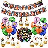 89 pièces Fournitures de fête d'anniversaire Dragon Ball, Décorations de Dragon Ball pour cupcakes, bannières, ballons, Drago