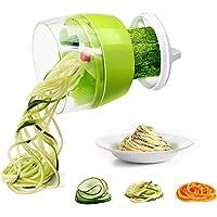 Mini Coupe Légumes Spirale, Fun Life Trancheuse Spiralizer, avec Handheld tournant Good Grips- commutable 3 lames pour…