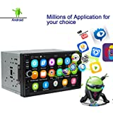 Ezonetronics Android Autoradio Stereo 7 Zoll Kapazitiver Touchscreen High Definition 1024x600 GPS Navigation Bluetooth USB SD Player 1G DDR3 + 16G NAND Speicher Flash 0011