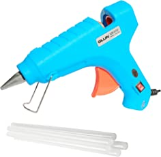 GLUN (SPECIAL COLOR) 80W 80 WATT HOT MELT GLUE (ON OFF SWITCH AND INDICATOR) WITH 5 FREE TRANSPARENT GLUE STICKS :- (TURQUOISE)