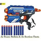 Zest 4 Toyz Blaze Storm Manual Soft Bullet Shooting Gun Toy with 10 Safe Foam Bullets for Kids | Toy Gun for Kids