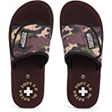 DOCTOR EXTRA SOFT Men's Camo Ortho Care Orthopaedic and Diabetic Velcro Adjustable Strap Super Comfort Dr.Sliders Flipflops a