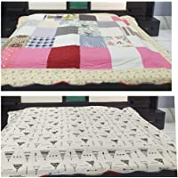 Bed Cover Quilted Reversible King Size Without Pillow Covers Pure Cotton Heavy Quality