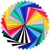 Vinyle de transfert de chaleur, Ohuhu 42 Pack 20 couleurs Feuille de meubles auto-adhésive Feuilles de vinyle de transfert HT