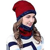 Zacharias Women's Woolen Cap with Neck Muffler/Neckwarmer Set of 2 Free Size