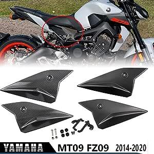 Mt09 Fz09 Motorrad Sitz Seite Paneele Abdeckung Verkleidung Motorhaube Abdeckungen Für 2014 2020 Yamaha Mt Fz 09 2015 2016 2017 2018 2019 Kohlefaser Aussehen Auto