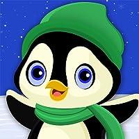 Pinguino Winter Fun: La Corsa Snowboard Sport Pazzo freddo - Oro