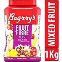 Bagrry's Fruit N Fibre Muesli, Mixed Fruit, 1000g