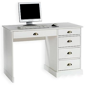 Schreibtisch Weiß Landhaus