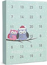 """SIX """"Weihnachten Schmuck Adventskalender Eulen Tiermotiv 24-teilig Geschenke Überraschung Xmas Adventszeit Ohrringe Ketten Ringe Armbänder"""