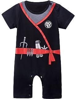 MOMBEBE COSLAND Baby Boys Pirate Ninja Costume Short Set 3-18 Months