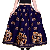 jwf Women's Cotton Khushi Print Long Skirt (Multicolour, SK_108, Free Size)