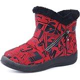 Hezeisoar Niños Botas de Nieve Invierno Calientes Zapatos Niña Niño Forradas Zapatillas Impermeable Planas Botines Antidesliz