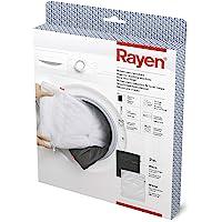 Rayen 6058.01 Bag protège Vos vêtements | avec Zipper Fermeture de la sécurité | Lave-Linge et séchoir, Blanc/Noir, 50 x…