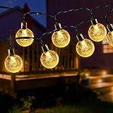 Solar String Lights 24Ft 50 LED Outdoor String Lights Garden Crystal Ball Decorative Lights Waterproof Indoor Fairy Lights fo
