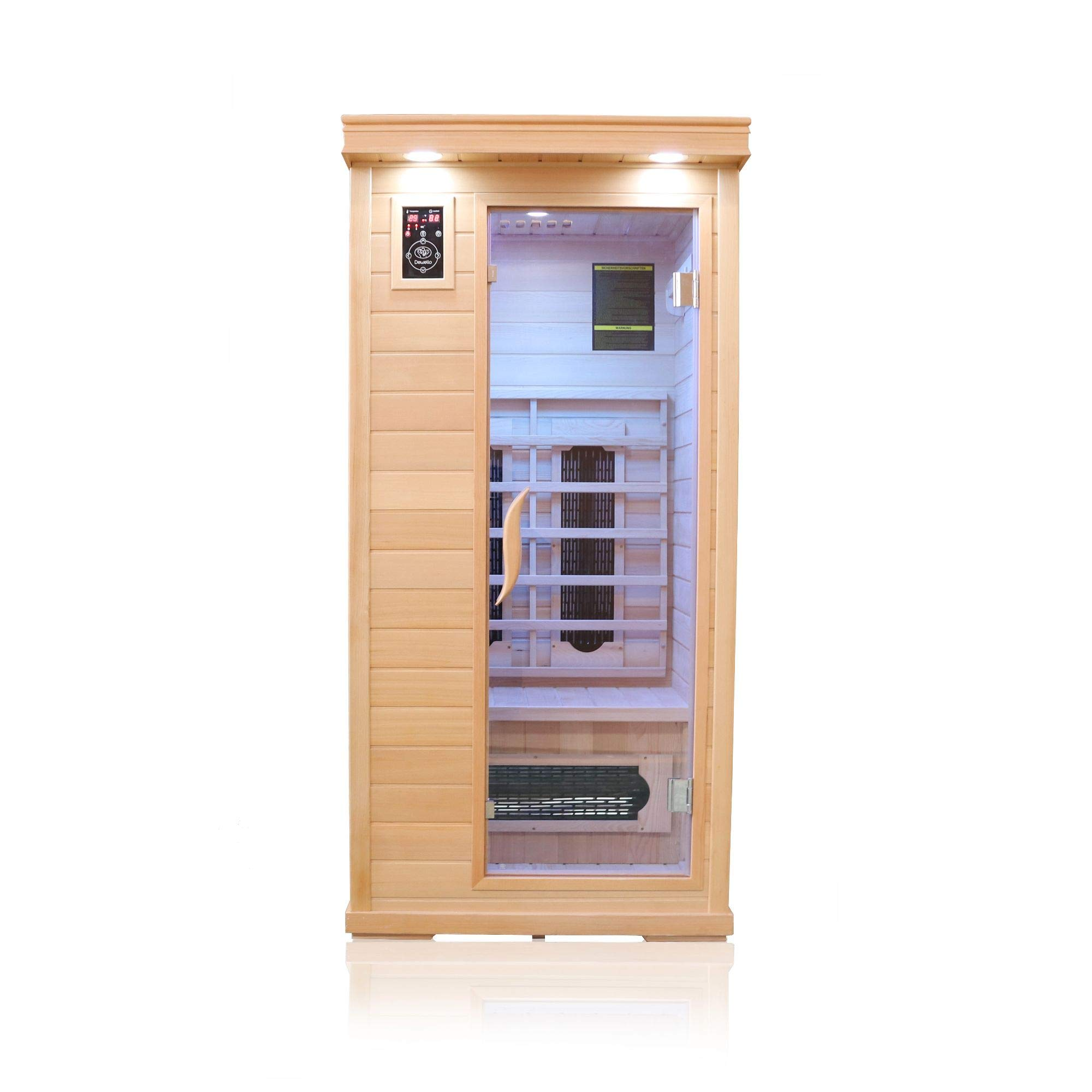 Dewello Infrarotkabine WINDSOR (90x90cm) Infrarotsauna für 1 Person