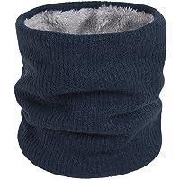 QKURT Scaldacollo invernale, sciarpa scaldacollo foderata in pile lavorato a maglia termica unisex per camminare all…