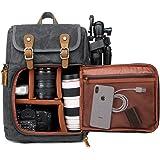 DSLR kamera kanvas ryggsäck stor kapacitet framöppning vattentät anti-chock SLR/DSLR kamera ryggsäck kamera resväska professi