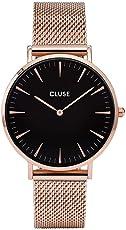 Cluse Damen Armbanduhr Analog Quarz Edelstahl CL18113,  Gold (Rose Gold)