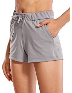 CRZ YOGA Femme Shorts de Sport Running Slip Intégré avec