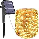 Guirnalda Luces Exterior Solar, Kolpop Cadena de Luces 26 Metros 240 LED, 8 Modos de Luz, Decoración para Navidad, Fiestas, B