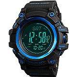 Orologio digitale da uomo con bussola e pedometro, contatore calorie, altimetro, barometro, temperatura, cronometro, sport mi