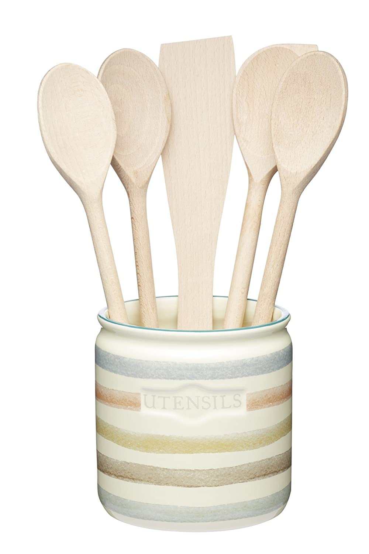 kitchencraft classic collection striped ceramic kitchen utensil