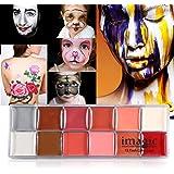 Schmink, 2 soorten IMAGIC 12 kleuren Body Flash Tattoo Olieverf Pigment Makeup Tool Fancy Dress Artist Palette voor Halloween