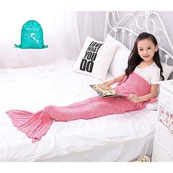 Couverture Sirene - Queue de sirène Couvertures,Couverture Plaid pour Canapé Salon Lit Chambre,meilleur choix pour cadeau de fille, cadeau de noël, cadeau d'anniversaire de fille