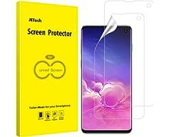 JETech Skärmskydd Kompatibel med Samsung Galaxy S10, TPU Ultra HD Film, Fall Vänlig, 2-Pack