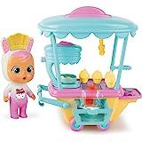 BEBÉS LLORONES LÁGRIMAS MÁGICAS Carrito de Coney - Mini muñeca y su Carrito de pastelería con Vapor y Luz