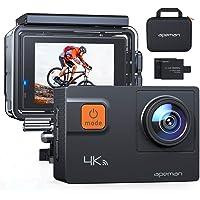 APEMAN Action Cam A80, 4K 20MP WiFi Impermeabile 40M 4XZoom Fotocamera Subacquea Digitale, Gyro Stabilizzazione con…