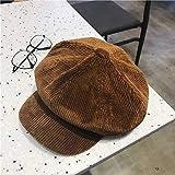 JTXJ Cappello Berretto Ottagonale Cappello Ottagonale per Cappello da Pittore in Velluto A Coste Femmina Berretto Autunno E I