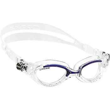 Cressi Flash - Gafas de Natación con Cristales Independientes, Anti Empañante y Anti UV, Transparente/Azul