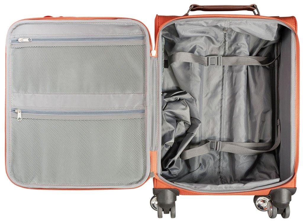 Maletín de nailon Viaje 3Piezas Maui Naranja de tejido de nylon plástico Trolley bolsa case FA. bowatex