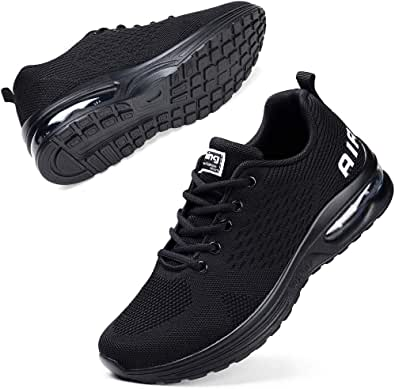STQ Running Shoes Ladies Trainers Womens Mesh Low Top Sneakers