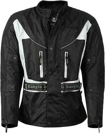 Ledershop Online Bangla 017a Motorradjacke Touren Jacke Textil Wasserdicht Schwarz Grau S 7 Xl Bekleidung