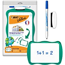 BIC VELLEDA 19x26cm Single Sided Whiteboard with Pen and Eraser Pad