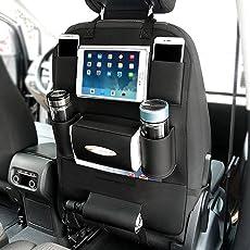 Auto Organizer Rückseite Sitz Rückenlehnenschutz Auto Rücksitz-Organizer für Kinder mit Tablet Halterung mit Kick Matte und Sitz cover-double