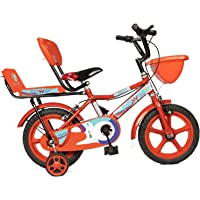 Norman Jr Double Seat Bicycle 14 Inch Fully Adjustable with Back Seat & Support for Boys and Girls 2 to 5 Years - Blood…