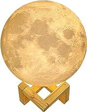 Größer! 15cm Mond Lampe Nachtlampe 3D Mond Lampe Mondlicht ALED LIGHT 5.9 Zoll Durchmesser Mond Nachtlicht Lampe 3 Farbe Wählbar Schlafzimmer Dekor USB Lade Stimmung Licht für Schlafzimmer Cafe Bar Esszimmer