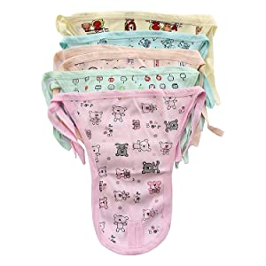 fasla New Born Baby Washable Hosiery Cotton Cloth Nappies,Langot,(pack of 12)