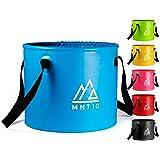 MNT10 Outdoor vouwemmer in 15 of 20 liter, opvouwbare kom van robuust zeildoek, als campingspoelbak, spoelbak of als opvouwba