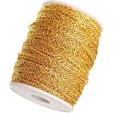 Kwizy Jewellery Making Chain for Jewellery Craft and DIY Making Purpose Golden (10 Meter)